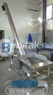 Шнек за транспортиране на захар от неръждаема стомана
