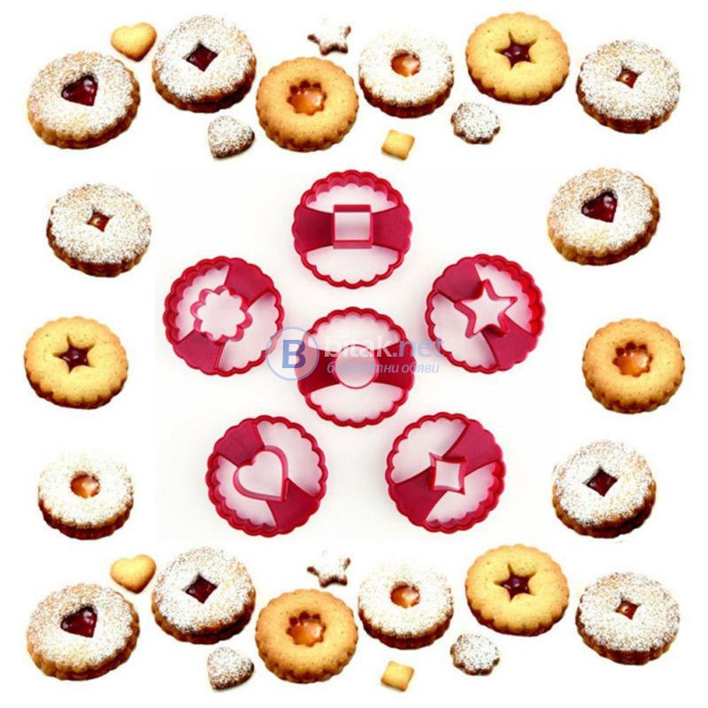 Линцер комплект резци коледни форми за сладки