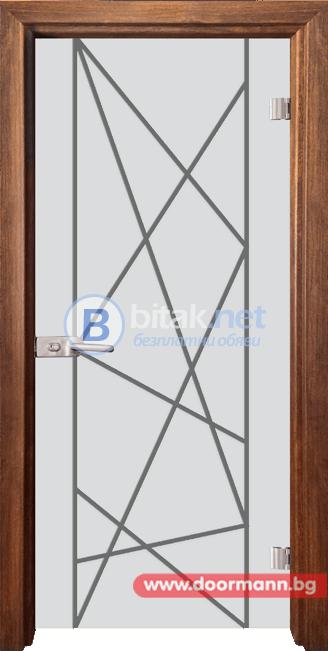 Стъклена врата модел Gravur 13-5