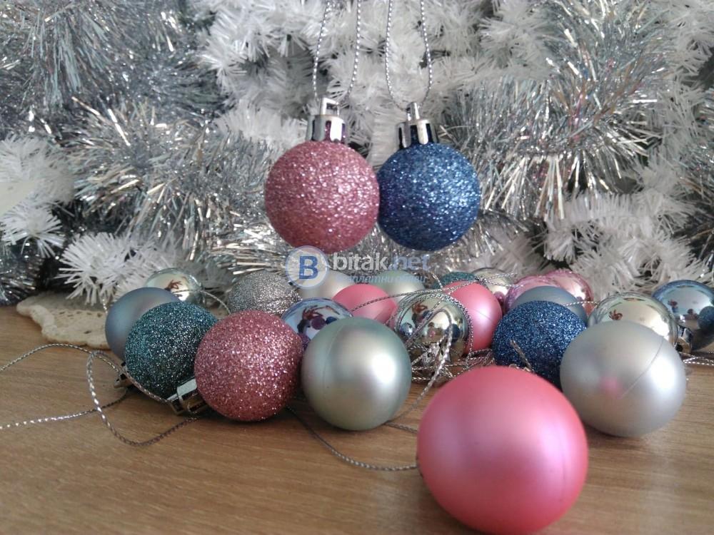 Комплект коледни играчки за елха топки