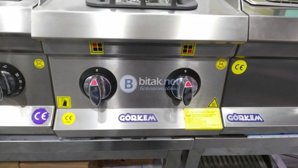 Професионален газов двоен котлон с защита