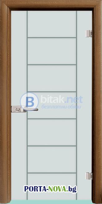Стъклена интериорна врата, Gravur G 13-6