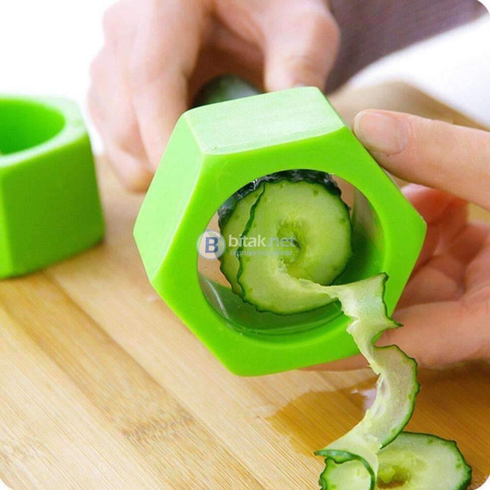 Ренде острилка за краставица резачка прибор за спирали декориране на с