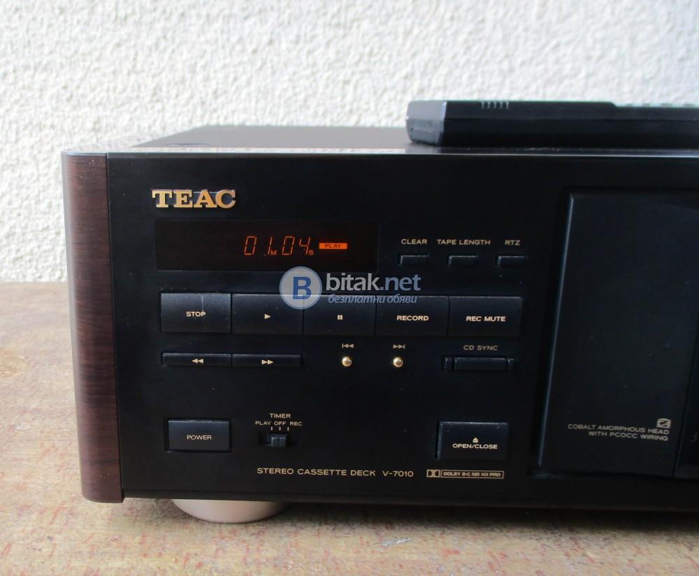 TEAC V-7010 – Касетен дек от висок клас. Дистанционно.