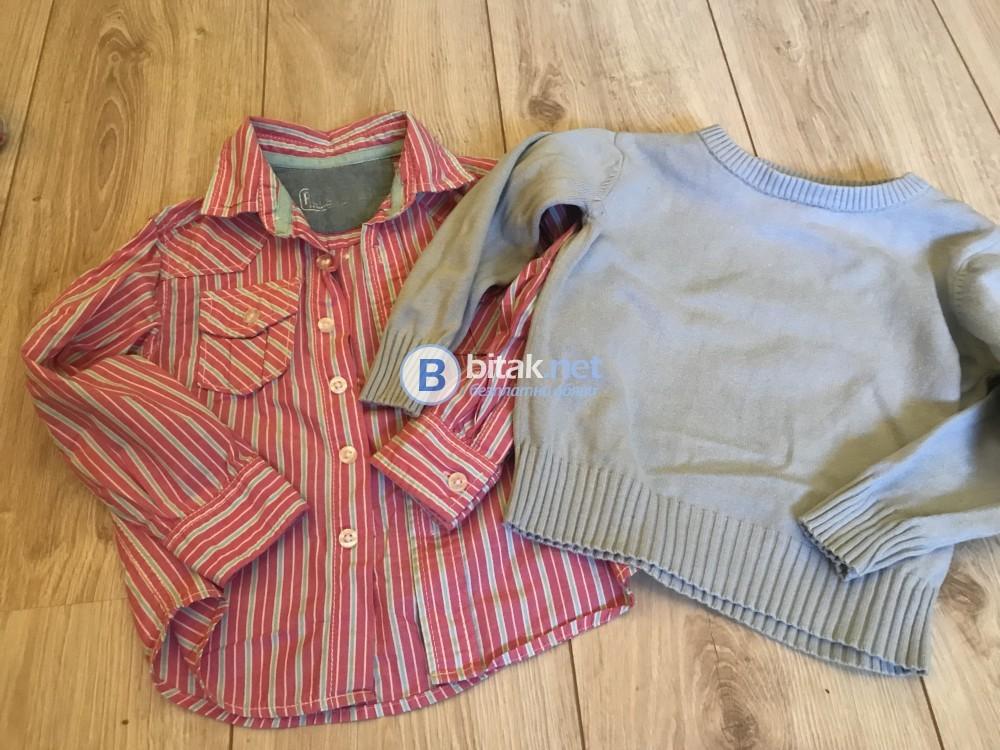 Детски ризи и пуловер за 2-3 годишно момче