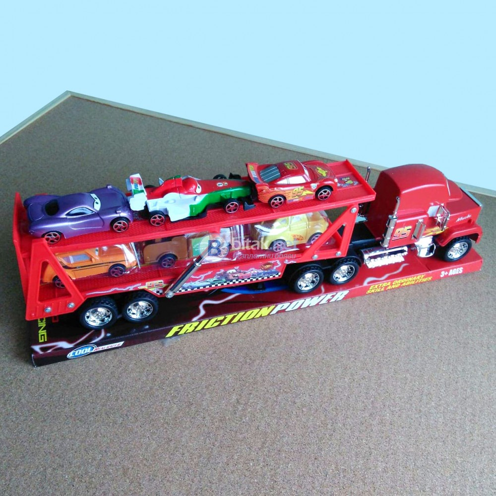 Голям камион автовоз Макуин с 6 колички