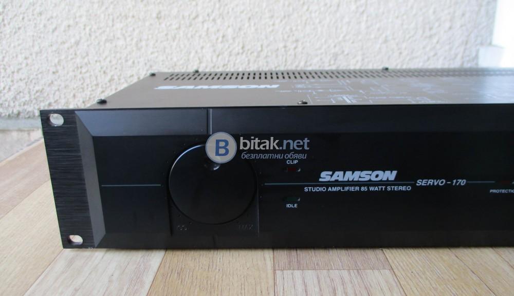SAMSON SERVO 170 – Студийно стъпало мощно (1 kHz): 85 W into 4 Ω per channel.