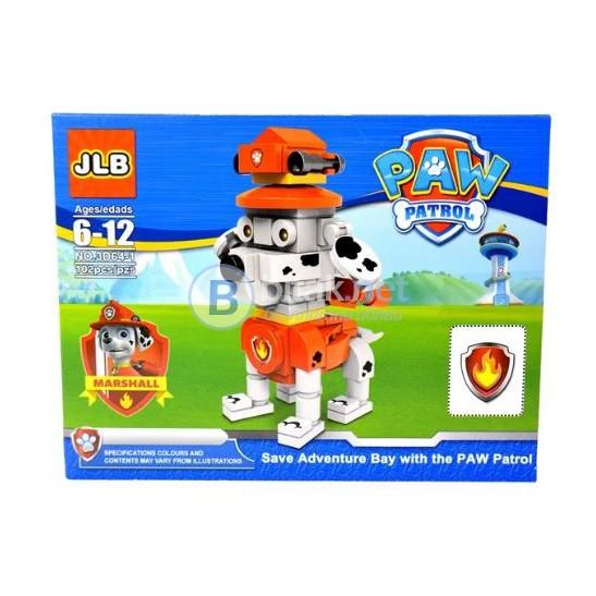 Малък детски конструктор Paw Patrol 101 части Лего Пес Патрул играчки 6 модела