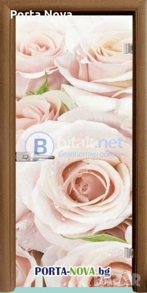 Стъклена интериорна врата, Print G 13-7