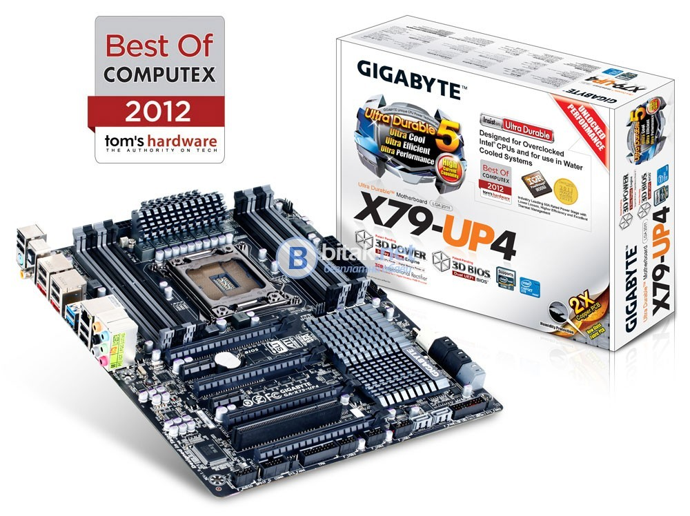 Дъно MB GIGABYTE GA-X79-UP4, LGA 2011 - Повредено!