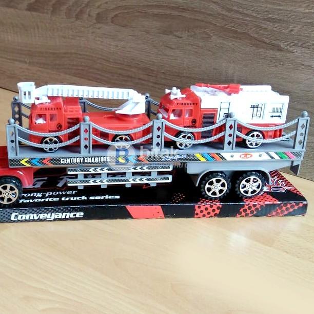 Детски автовоз с две пожарни играчка за момче 43см