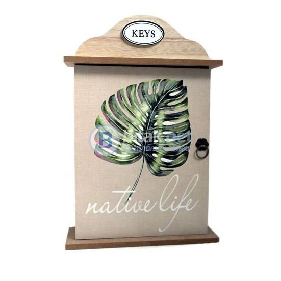Дървена къщичка за ключове закачалка органайзер поставка за стена Дър