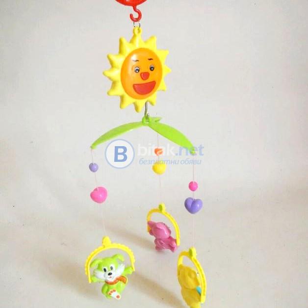 Музикална въртележка за бебешко креватче дрънкалки за бебе