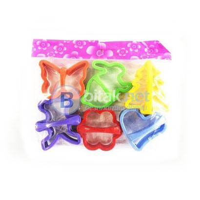 Формички за дребни сладки комплект от 6 броя резци за бисквити курабий