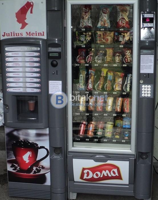 Обслужване с вендинг автомати за закуски, пакетирани стоки и студени напитки
