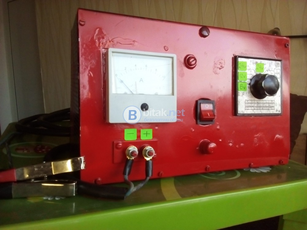 Българско зарядно устройство за автомобилни акумулатори