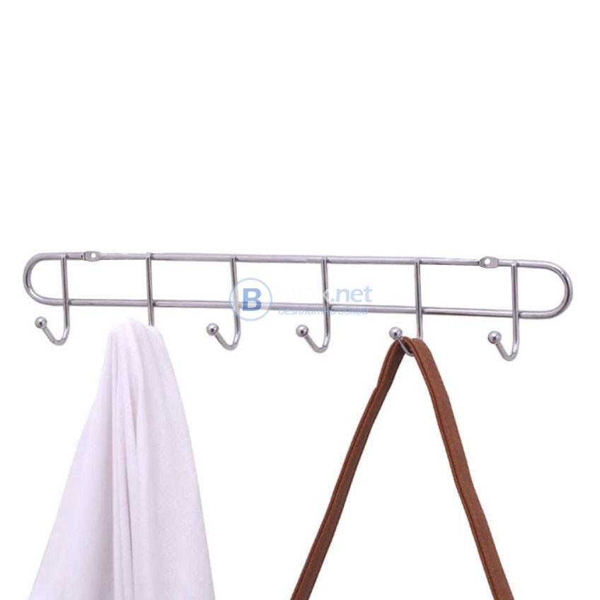 Метална закачалка за дрехи закачалка за стена с 6 куки за закачане