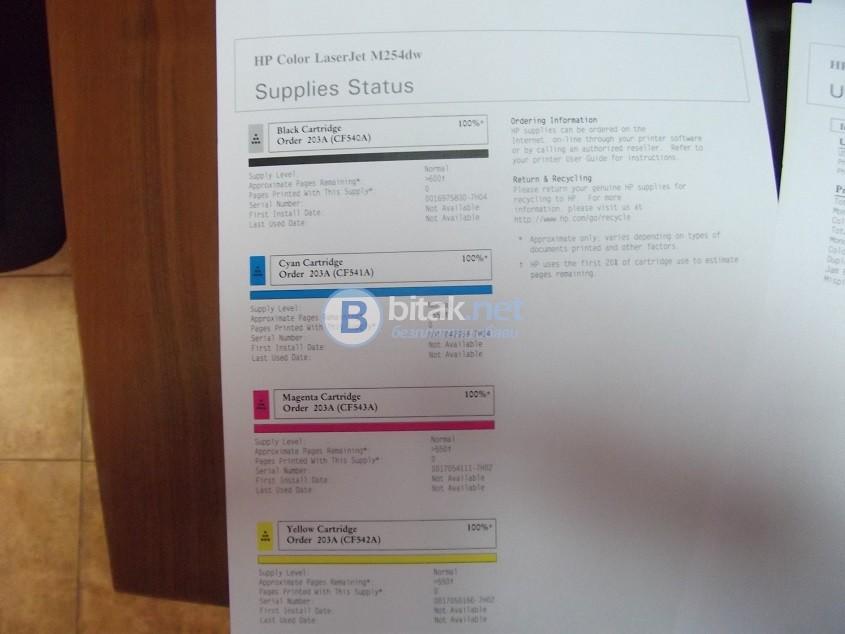 НОВ Цветен лазерен принтер HP Color Laserjet Pro M254dw