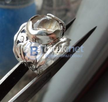 модел 448   Изработен от масивно сребро   Пръстен с камък цитрин 12мм