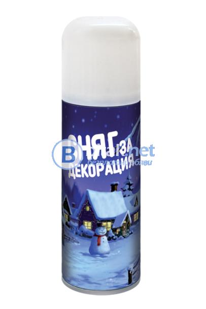 Комплект спрей сняг за декорация + 6 шаблона подарък