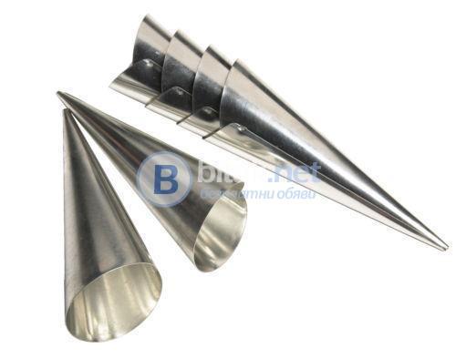 Комплект 6бр метални форми за фунийки