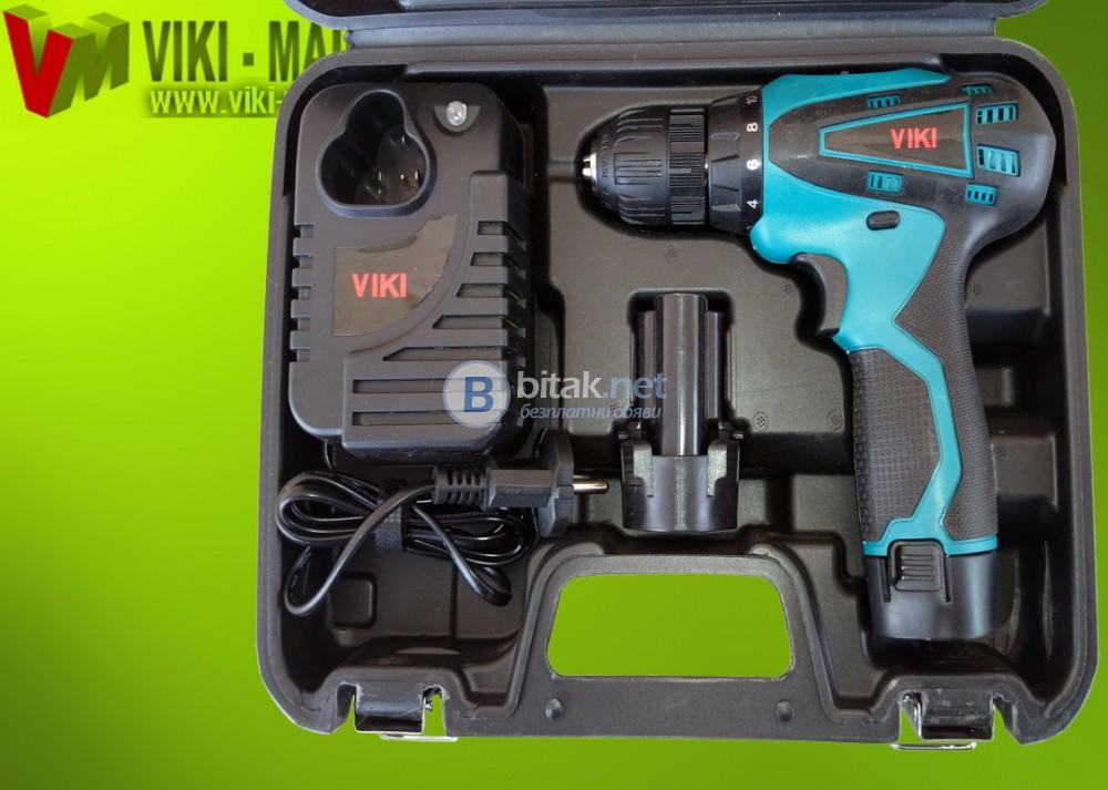 акумулаторен винтоверт с LED просветка - VIKI 12V Li-ion