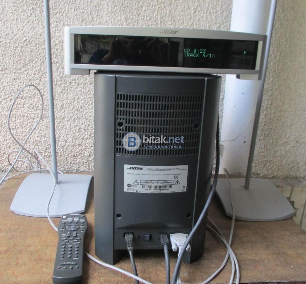 BOSE 1.2.3 GS – Система от субуфър с усилватели,сателити,СД пресивър,дистанционно и книжка с инструк