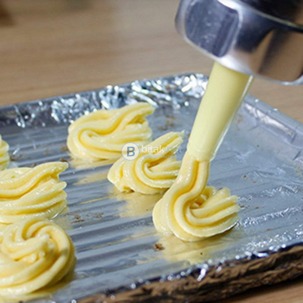 Метален шприц за сладки сладкарски инструмент за декорация с 11 диска