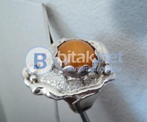 модел 414 Изработен от масивно сребро Дамски пръстен,с апликация