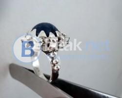 модел 412 Изработен от масивно сребро Дамски пръстен,с апликация