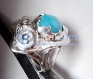 модел 408 Изработен от масивно сребро Дамски пръстен,с апликакация