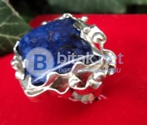 модел 380  Изработен от масивно сребро  Дамски пръстен,с инкрустиран 1 камък лазорит